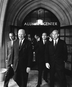 Dwight Eisenhower with Chancellor Murphy